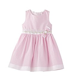 Rare Editions® Girls' 2T-6X Gingham Seersuckers Dress