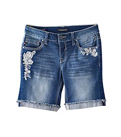 Vigoss® Girls' 7-16 Frayed Hem Bermuda Shorts