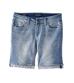 Vigoss® Girls' 7-16 Frayed Hem Bermuda Shorts with Butterfly Pockets