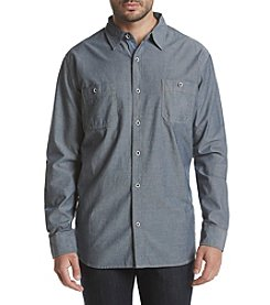 Weatherproof® Men's Chambray Double Pocket Long Sleeve Woven Button Down