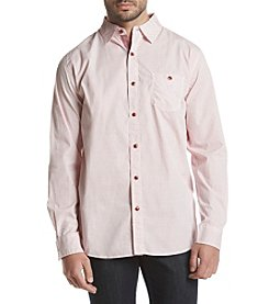 Weatherproof® Men's Poplin Printed Neat Woven Button Down
