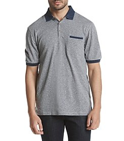 Weatherproof® Men's Printed Pique Polo