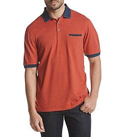 Weatherproof® Men's Melange Jersey Polo