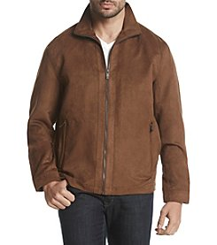 Weatherproof® Men's Perforated Faux Microsuede Coat