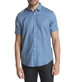 Calvin Klein Men's Wovens Blue Grid Shirt