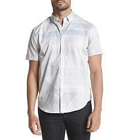 Calvin Klein Men's Shirt Sleeve Woven Large Triangle Button Down Shirt