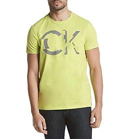 Calvin Klein Men's Solid Jersey Bonded Ck Tee