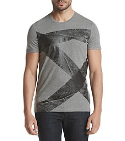 Calvin Klein Men's Solid Distressed Tape Tee