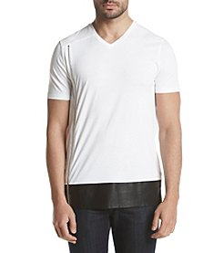 Calvin Klein Men's Pieced Side Zip Tee