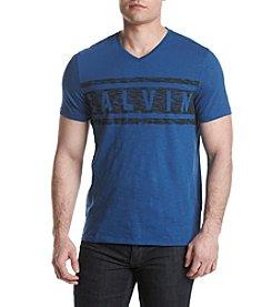 Calvin Klein Jeans® Men's Stripe Calvin V-Neck Tee
