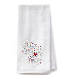Home Sewn Wisconsin Heart Wausau Kitchen Towel