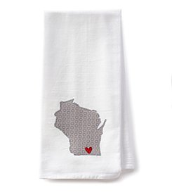 Home Sewn Wisconsin Heart Janesville Kitchen Towel