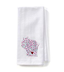 Home Sewn Wisconsin Heart Madison Kitchen Towel
