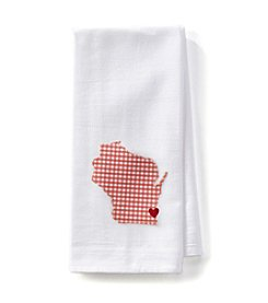 Home Sewn Wisconsin Heart Milwaukee Kitchen Towel
