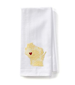 Home Sewn Wisconsin Heart Eau Claire Kitchen Towel