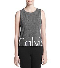 Calvin Klein Performance Logo Drop Armhole Crop Tank