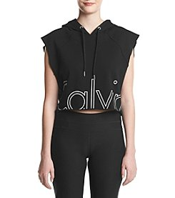 Calvin Klein Performance Outline Cut Off Crop Hoodie