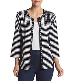 Alfred Dunner® Petites' Stripe Ottoman Jacket