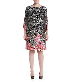 Studio Works® Plus Size Angel Sleeve Print Knit Dress