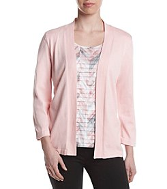 Alfred Dunner® Brushstroke Layered Look Sweater