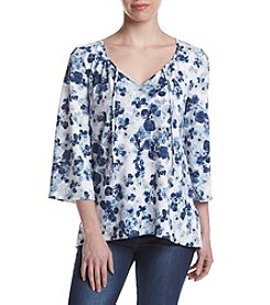 G.H. Bass & Co. Floral Peasant Top
