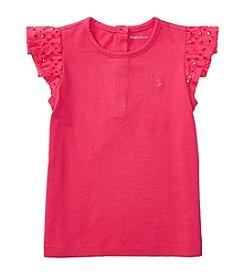 Ralph Lauren® Baby Flutter Sleeve Top