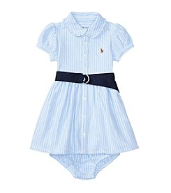 Lauren Ralph Lauren® Baby Mesh Striped Dress