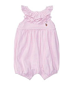 Lauren Ralph Lauren® Baby Girls' Gingham Bubble Shortalls