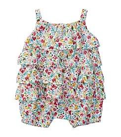 Lauren Ralph Lauren® Baby Floral Print Bubble Shortalls