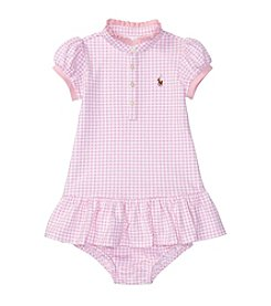 Lauren Ralph Lauren® Baby Mesh Gingham Dress