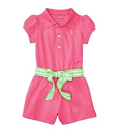 Lauren Ralph Lauren® Baby Girls Mesh One-Piece Romper