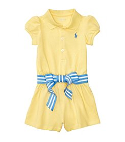 Polo Ralph Lauren® Baby Girls Mesh Romper
