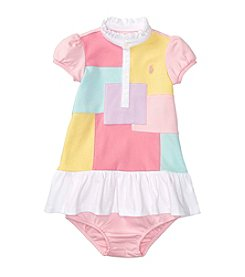 Lauren Ralph Lauren® Baby Interlock Patchwork Dress