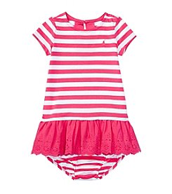Lauren Ralph Lauren® Baby Striped & Skirted Eyelet Dress