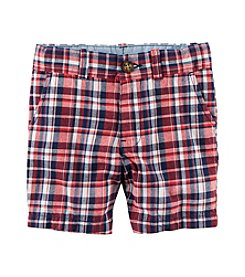 Carter's® Baby Boys' Plaid Flat Front Shorts