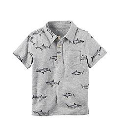 Carter's® Baby Boys' Shark Print Polo T-Shirt