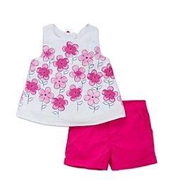 Little Me® Baby Girls' Floral Border Short Set