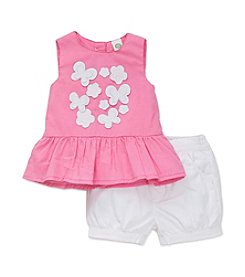 Little Me® Baby Girls' Floral Butterfly Top & Shorts Set