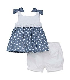Little Me® Baby Girls' Woven Top And Shorts Set