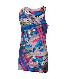 adidas® Girls' 7-16 Printed Twist Back Tank Top