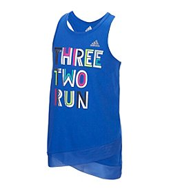 adidas® Girls' 2T-6X Three Two Run Tank Top