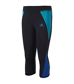 adidas® Girls' 7-16 Colorblock Capri Leggings