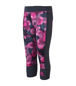 adidas® Girls' 7-16 Pieced Printed Capri Leggings