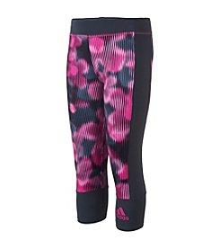 adidas® Girls' 7-16 Pieced Printed Capri Leggings