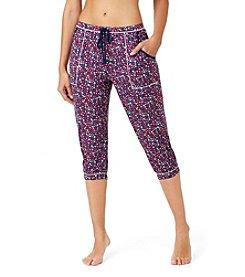 Layla® Print Pajama Capri Pants