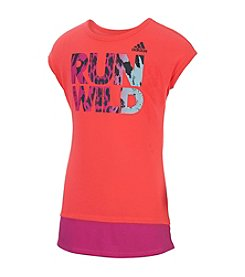adidas® Girls' 2T-6X Run Wild Top