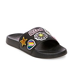 Steve Madden® Girls' Girlsquad Patch Slide Sandals