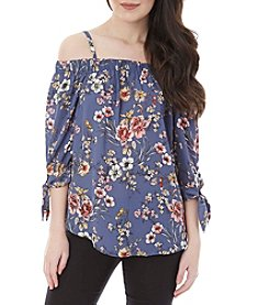 A. Byer Floral Off-Shoulder Top