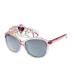 Riviera® Girls' Glitter Princess Belle Crown Glasses