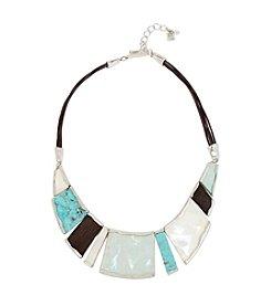 Robert Lee Morris Soho™ Mixed Semiprecious Stone Geometric Frontal Necklace